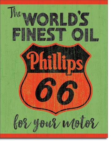 Phillips - World's Finest - Rectangular Tin Sign