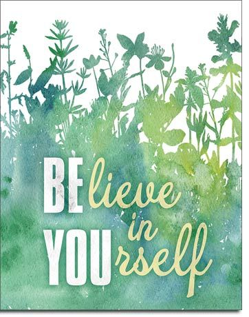 Believe In Yourself - Rectangular Tin Sign