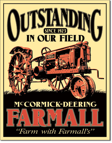 Farmall - Outstanding Tractor - Rectangular Tin Sign