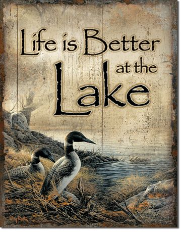 Life Is Better At The Lake - Rectangular Tin Sign