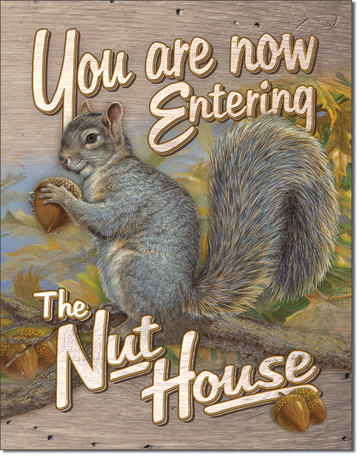 You Are Now Entering The Nut House - Rectangular Tin Sign