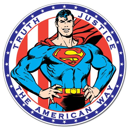 Superman - The American Way - Round Tin Sign