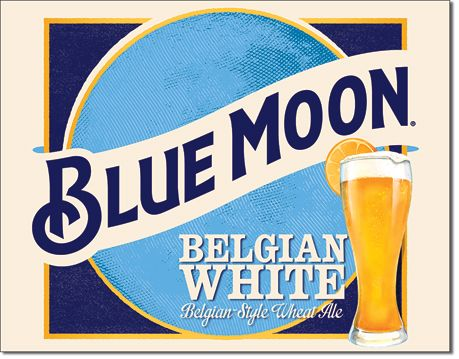Blue Moon - Belgian White - Rectangular Tin Sign