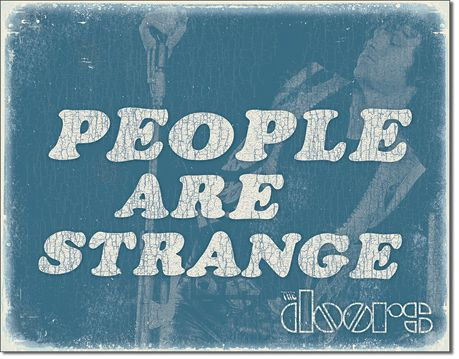 The Doors - People are Strange - Rectangular Tin Sign