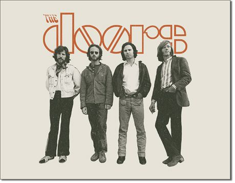 The Doors - The Band - Rectangular Tin Sign