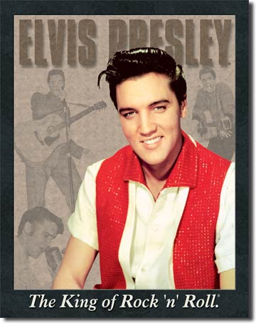 Elvis Presley The King of Rock 'n' Roll - Rectangular Tin Sign