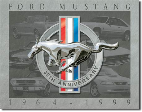 Ford Mustang 35th Anniversary 1964-1999 - Rectangular Tin Sign