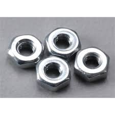 Du-Bro 2.0MM Steel Hex Nuts (4/pkg)