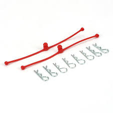 Du-Bro Body Klip Retainers (Red) 2/pkg.
