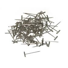 "Du-Bro Nickel Plated T-Pins 1"" (QTY/PKG: 100 )"