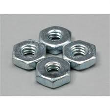Du-Bro 2-56 Steel Hex Nuts (QTY/PKG: 4 )
