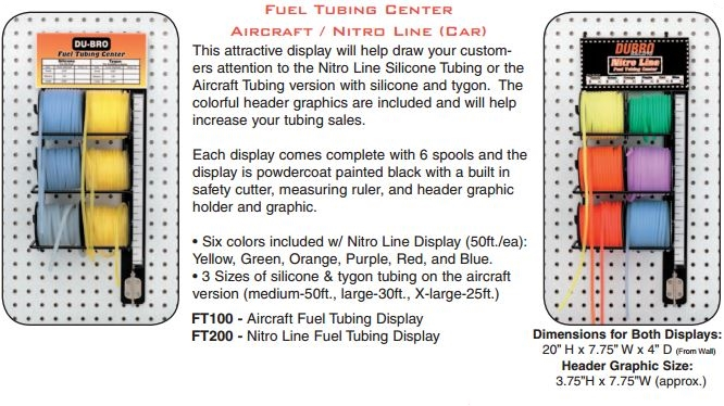 Du-Bro Fuel Tubing Center (Airplane) with Tubing
