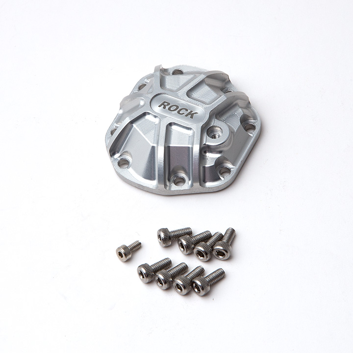 Gmade 3D Machined Differential Cover (Silver) for R1 Axle