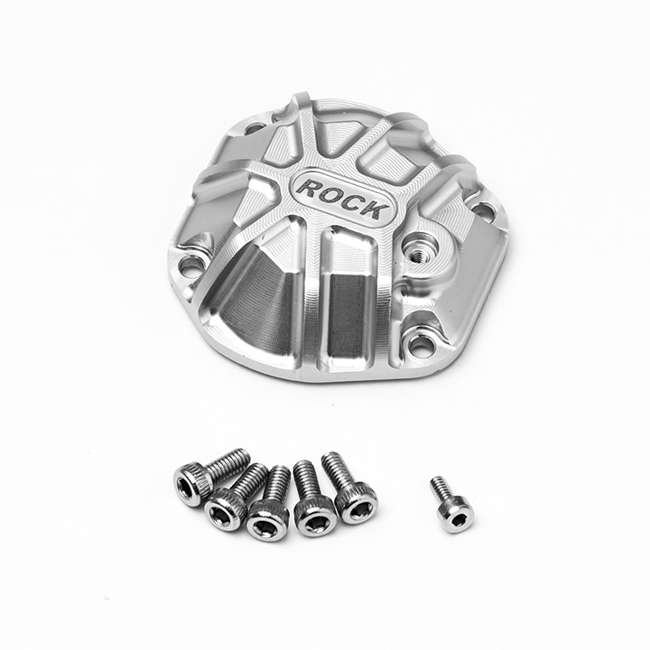 Gmade 3D Machined Differential Cover (Silver) for GS01 Axle