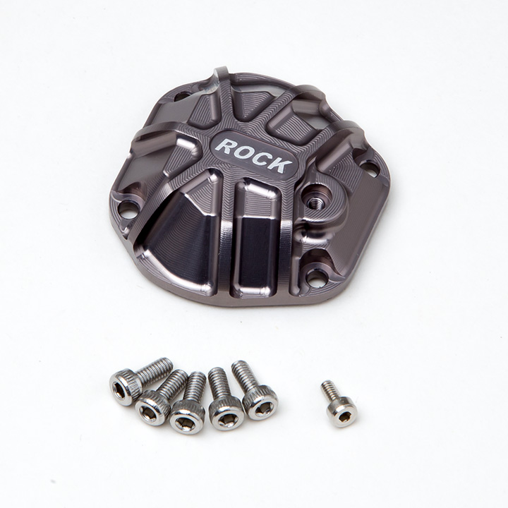 Gmade 3D Machined Differential Cover (Titanium Gray) for GS01 Ax