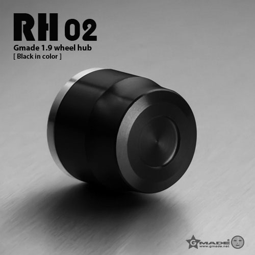 Gmade 1.9 RH02 wheel hubs (Black) (4)