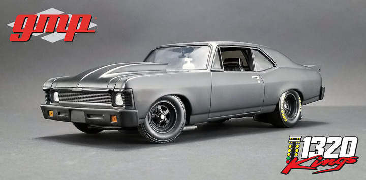 GMP 1/18 1320 Drag Kings 1969 Chevrolet Nova - Blackout