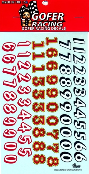 Decals Race car numbers decals 1/24