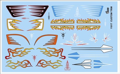 Gofer Racing Custom Trim Decal Sheet 1/24