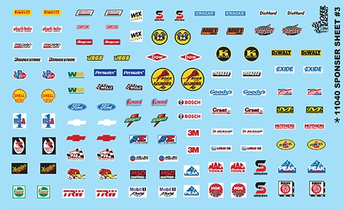 Gofer Racing Contingency Sponsor Sheet #3 Decal Sheet 1/24