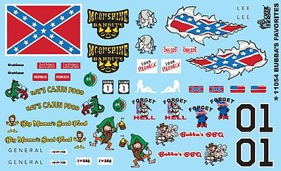 Gofer Racing Bubba's Favorites Decals 1/24