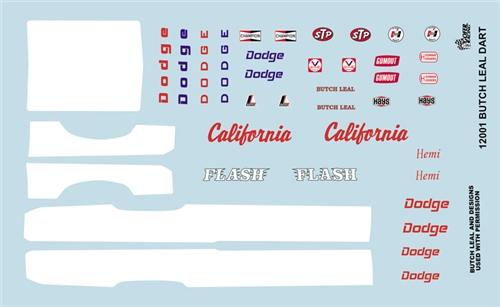 Gofer Racing Butch Leal Dart Decal Sheet 1/24