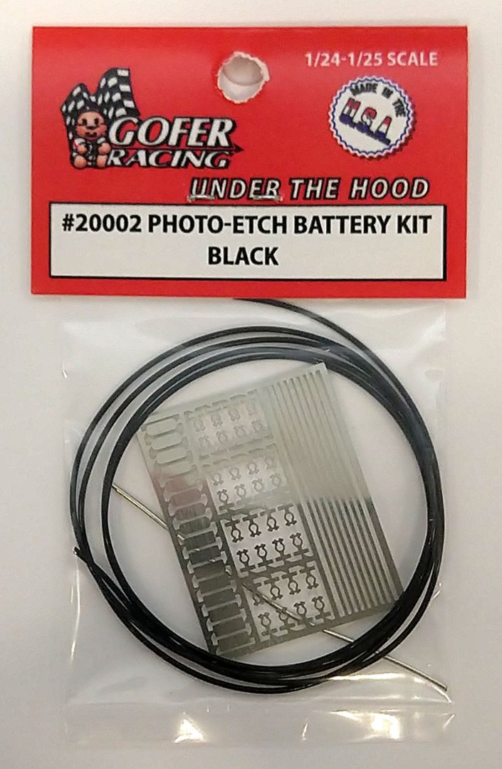 Gofer Racing Photo-Etch Battery Kit Black