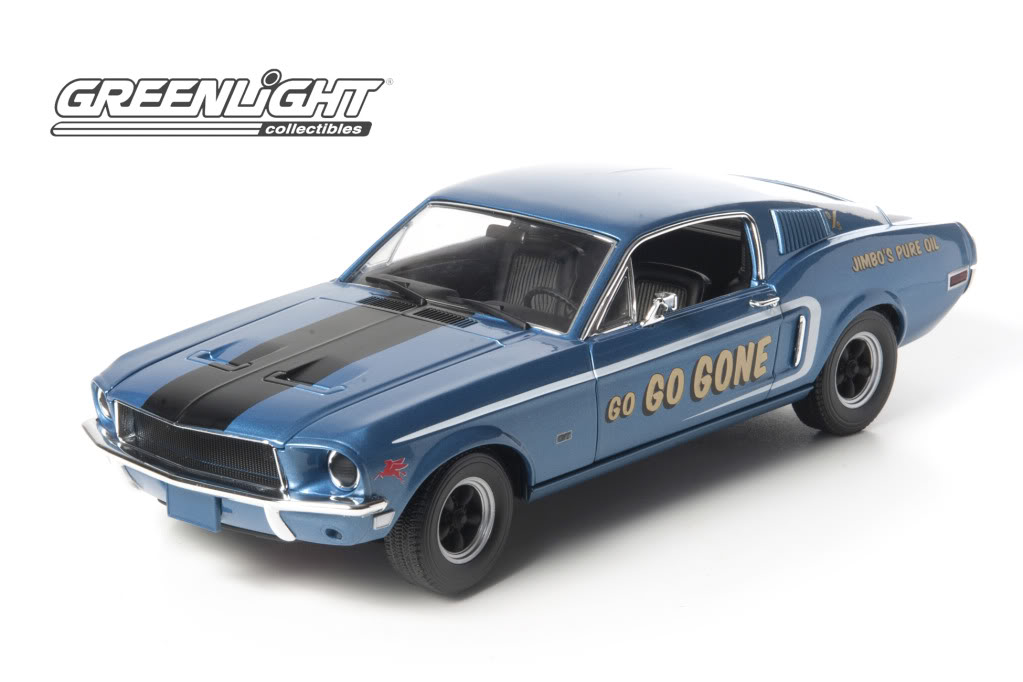 Greenlight 1/18 1968 Mustang GT Fastback Jimbos Pure Oil Go Go G