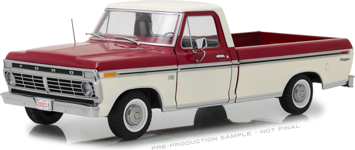 Greenlight 1/18 1972 Ford F-100 Truck - Red/White