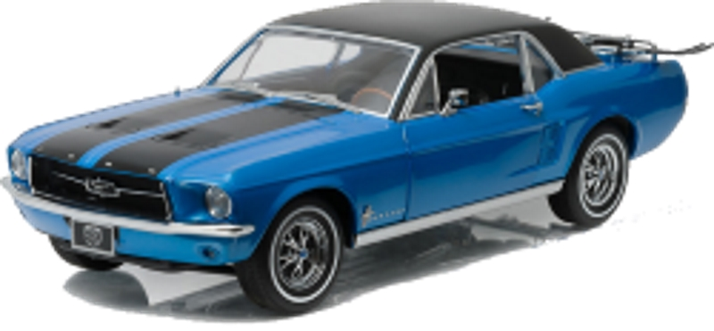 "Greenlight 1/18 1967 Ford Mustang Coupe - ""Ski Country Special"""