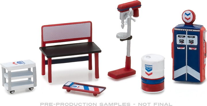 Greenlight 1/64 Muscle Shop Tools Standard Oil (Hobby Exclusive)