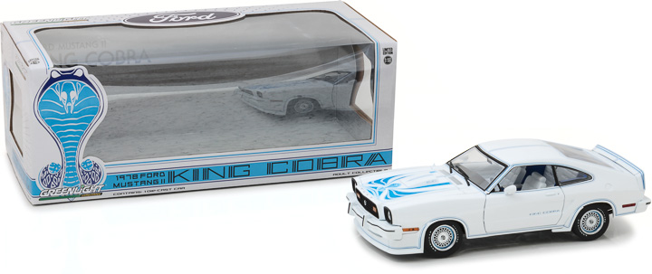 Greenlight 1/18 1978 Ford Mustang II King Cobra - White and Blue