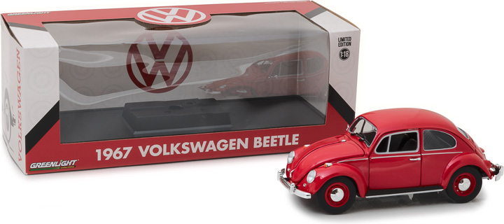 Greenlight 1/18 1967 Volkswagen Beetle Right-Hand Drive - Candy