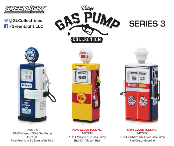Greenlight 1/18 Vintage Gas Pumps Series 3