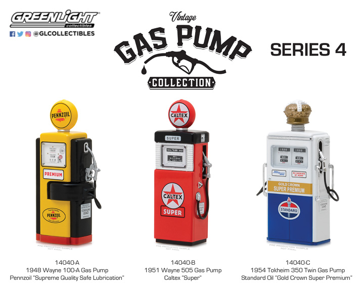 Greenlight 1/18 Vintage Gas Pumps Series 4
