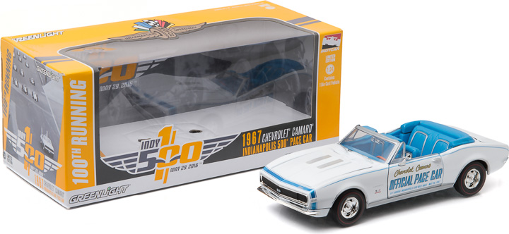 Greenlight 1/24 1967 Chevrolet Camaro Convertible Indianapolis 5