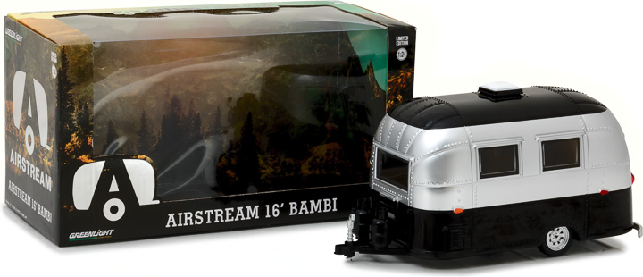 Greenlight 1/24 Airstream 16' Bambi Sport - Silver and Black