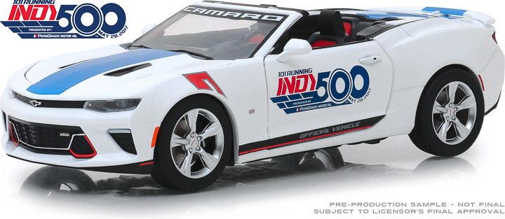 Greenlight 1/24 Chevrolet Camaro Convertible 101 Running Indy 50
