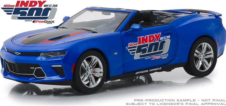 Greenlight 1/24 2018 Chevrolet Camaro Convertible 102nd Indy 500
