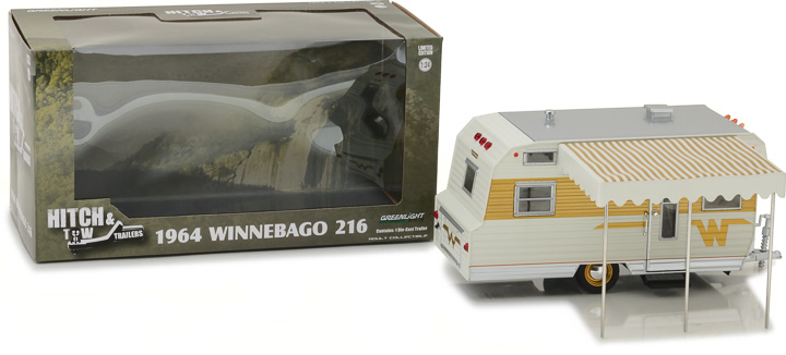 Greenlight 1/24 Hitch & Tow Trailers - 1964 Winnebago Trailer