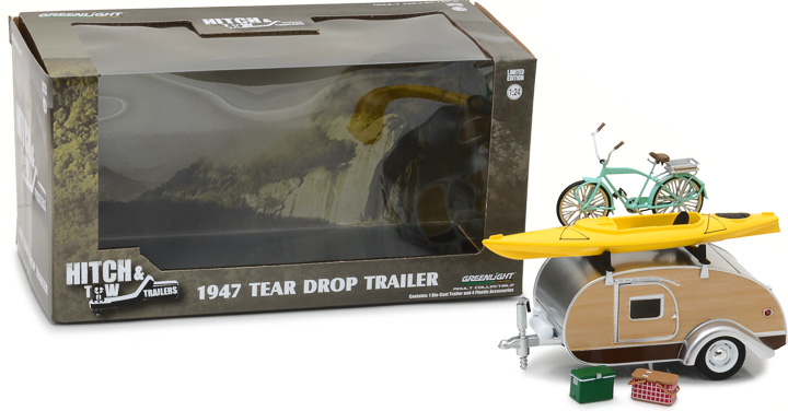 Greenlight 1/24 Hitch & Tow Trailers - Teardrop Trailer with Roo