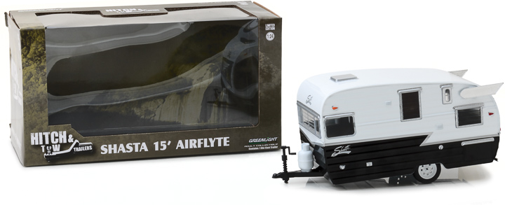 Greenlight 1/24 Shasta 15' Airflyte - White and Black