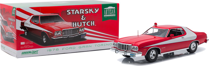 Greenlight 1/18 Starsky and Hutch TV 1976 Ford Gran Torino