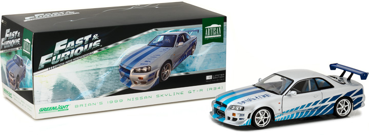 "Greenlight 1/18 ""Fast & Furious"" 1999 Nissan Skyline GT-R (R34)"