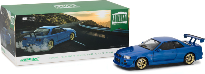 Greenlight 1/18 Artisan Collection 1999 Nissan Skyline GT-R R34