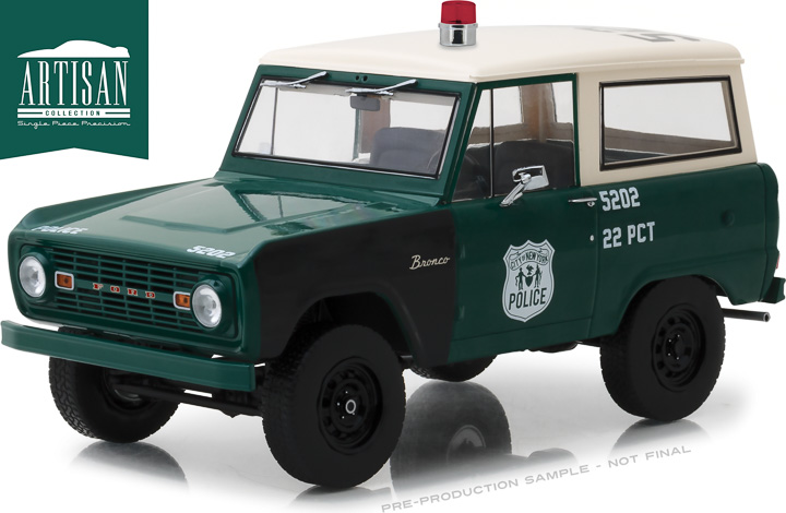 Greenlight 1/18 1967 Ford Bronco - NYPD