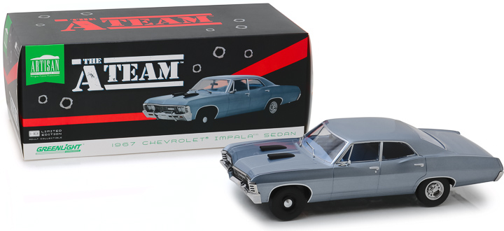 Greenlight 1/18 Artisan Collection The A-Team 1967 Chevy Impala