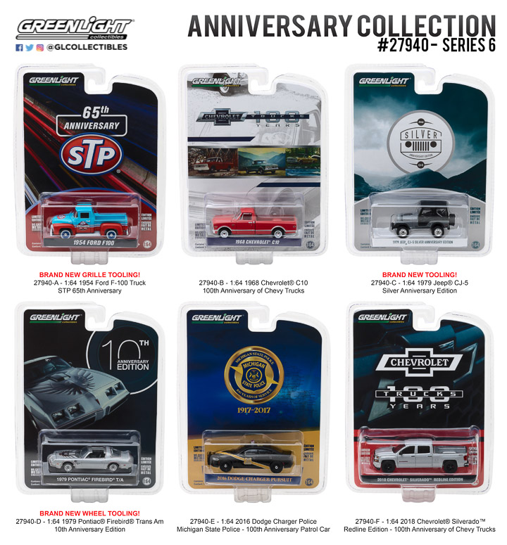 Greenlight 1/64 Anniversary Collection Series 6 (6)