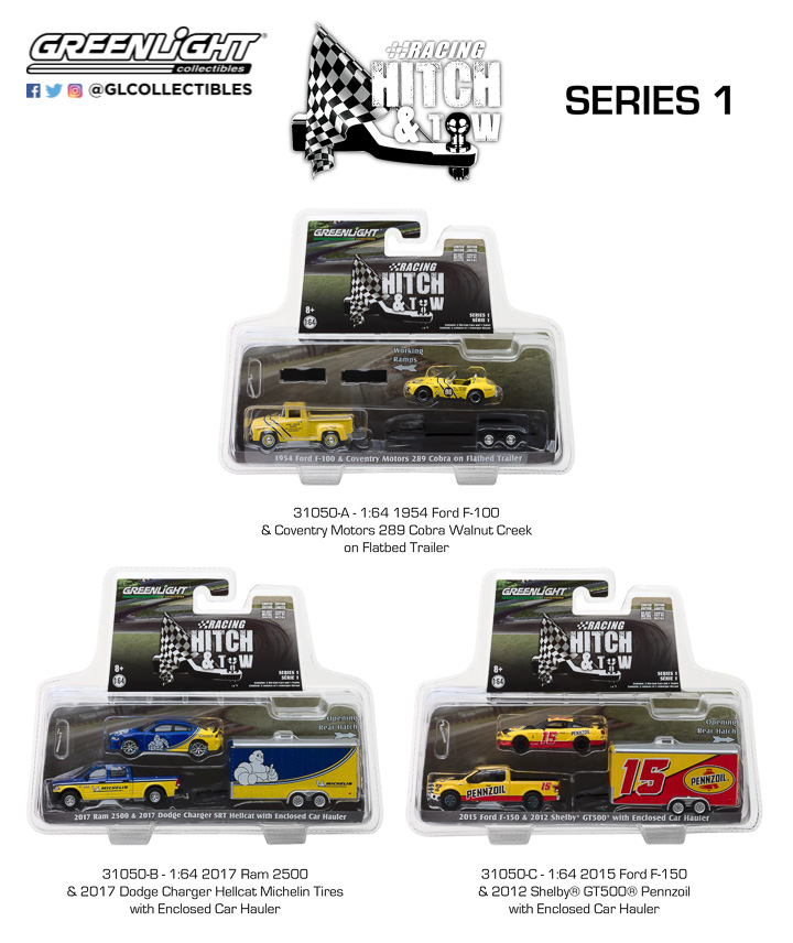 Greenlight 1/64 Racing Hitch & Tow Series 1 Assortment (6)
