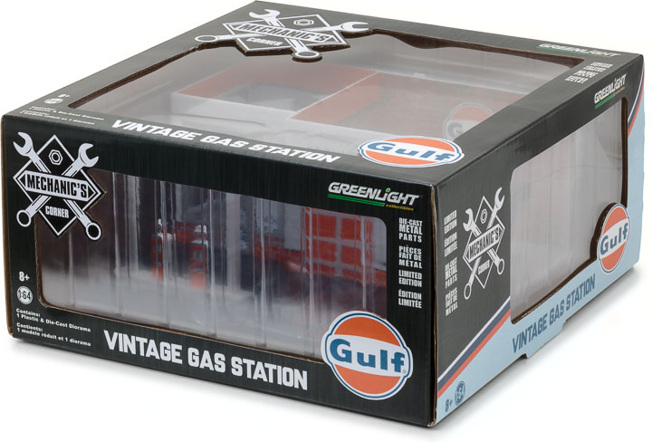 Greenlight 1/64 Mechanic's Corner Series 1 - Vintage Gas Station